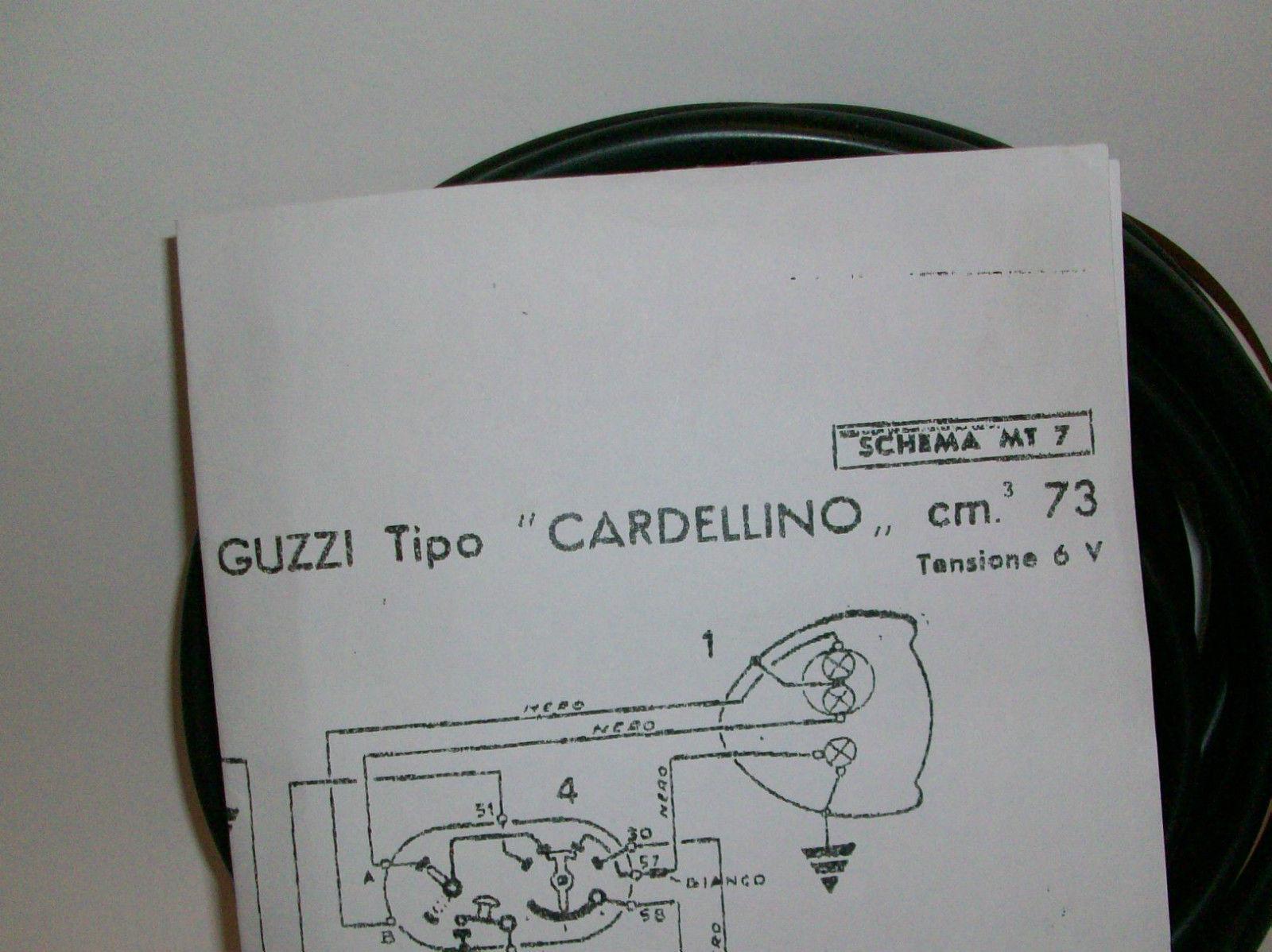 Schema Elettrico Wiring Diagram : Prodotto im impianto elettrico moto guzzi cardellino