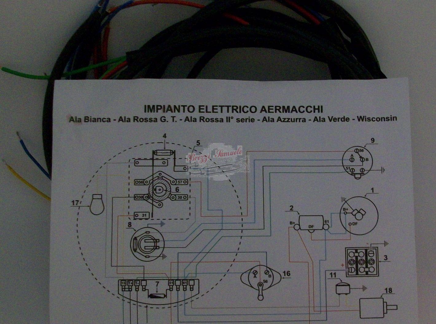 Schema Elettrico : Prodotto im impianto elettrico aermacchi ala biancha