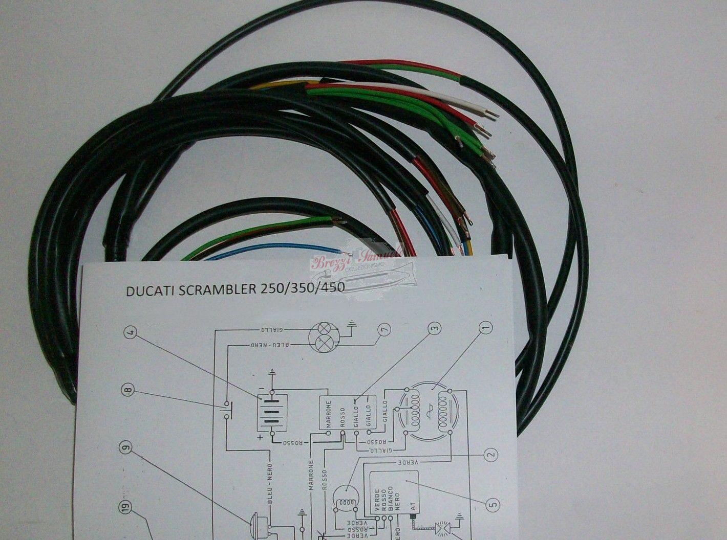 Schema Elettrico Wiring Diagram : Prodotto im impianto elettrico ducati scrambler mak desmo