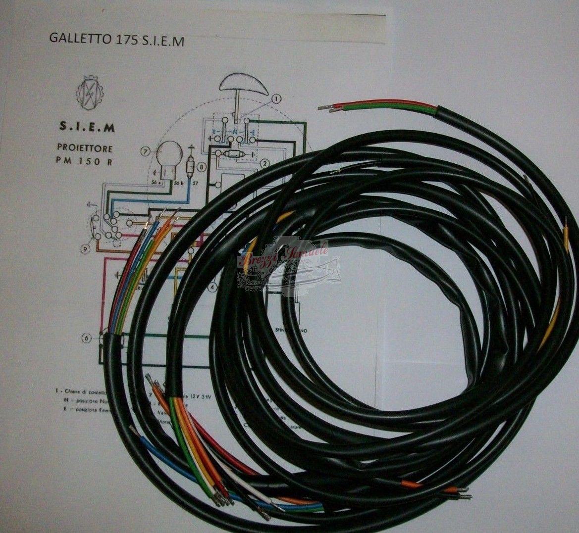 Schemi Elettrici Guzzi : Prodotto im impianto elettrico moto guzzi galletto siem