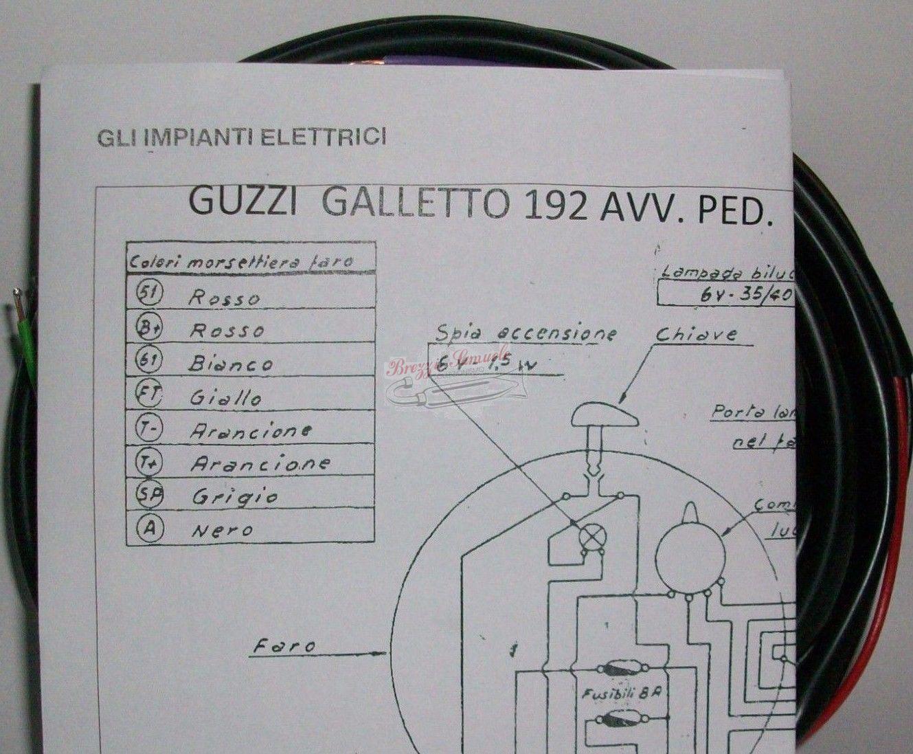 Schema Elettrico : Prodotto im impianto elettrico moto guzzi galletto