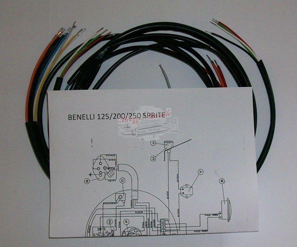 Schema Elettrico Wiring Diagram : Prodotto im a impianto elettrico benelli motobi sprite